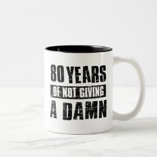 80 years Two-Tone coffee mug
