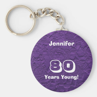 80 Years Young Purple Dolls Keychain (Key Chain)