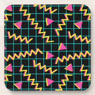 80's/90's Black & Neon Pattern Drink Coaster