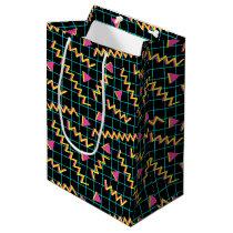 80's/90's Black & Neon Pattern Medium Gift Bag