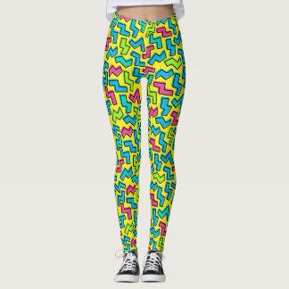 80's/90's Neon Pattern Leggings