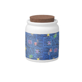 80s Abstract Candy Jar