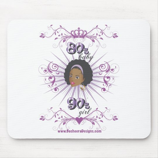 80s Baby 90s girl Mouse Pad