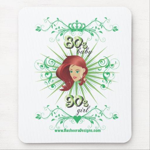 80s Baby 90s girl Mousepad