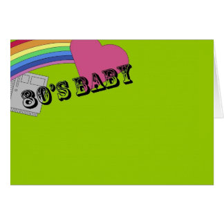 80's Baby Card