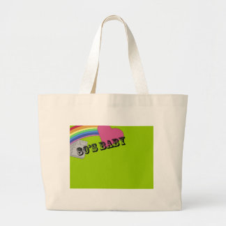 80's Baby Large Tote Bag