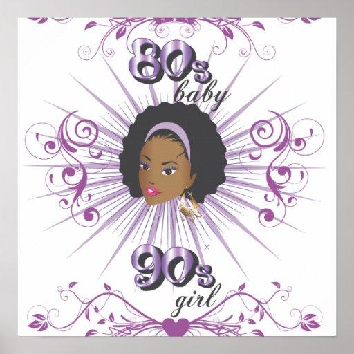 80s bebé 90s girl2 posters