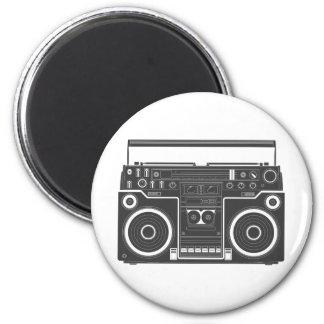 80s Boombox 2 Inch Round Magnet