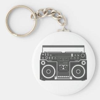80s Boombox Basic Round Button Keychain
