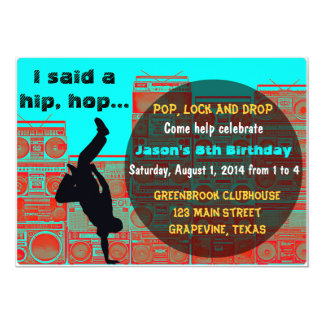 80's Boombox/Break ancing Hip Hop Party Invitation