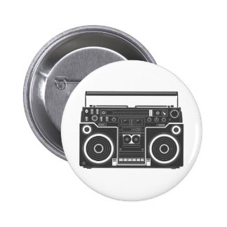 80s Boombox Pinback Buttons