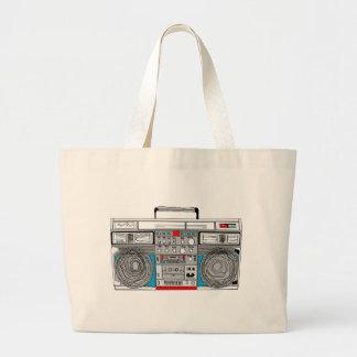 80s boombox illustration bag