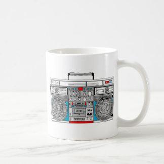 80s boombox illustration coffee mug