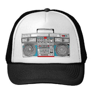 80s boombox illustration trucker hats