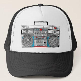 80s boombox illustration trucker hat