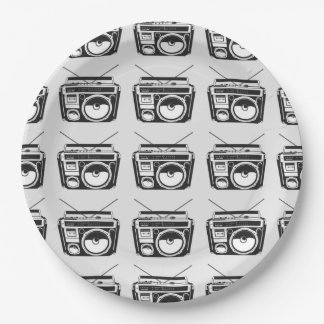 80s Boombox Paper Plate