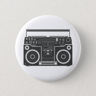 80s Boombox Pinback Button