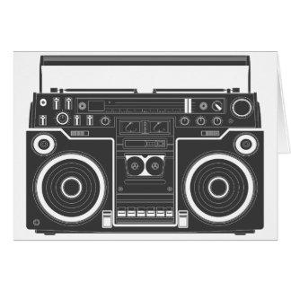80s Boombox Tarjeta De Felicitación
