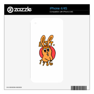80's Bunny Decals For iPhone 4