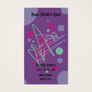 80s business card eighties fun party vintage art