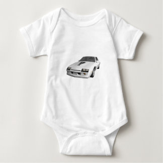 80's Camaro Sports Car: 3D Model: Baby Bodysuit