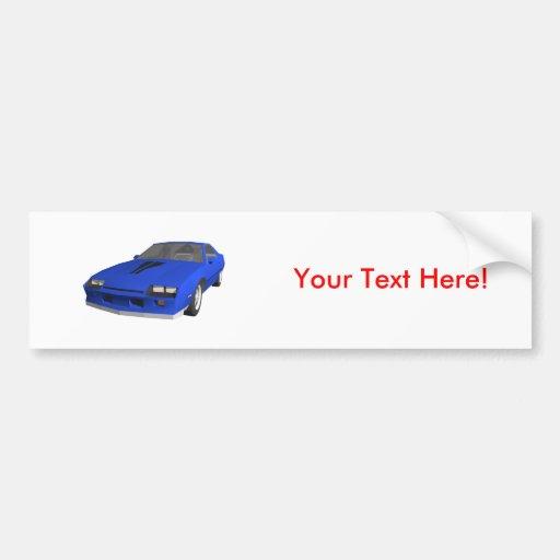80's Camaro Sports Car: 3D Model: Bumper Stickers