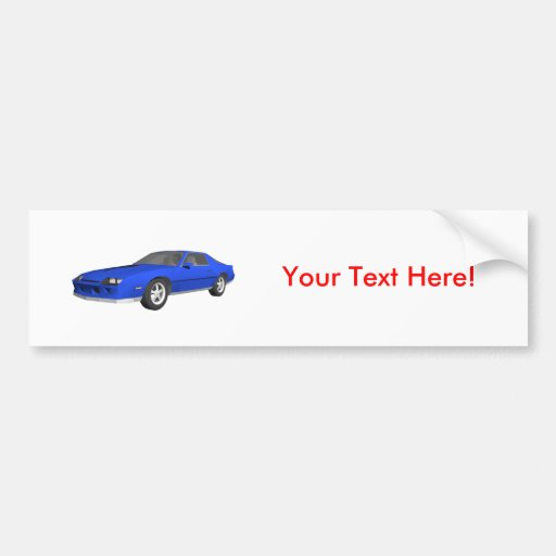 80's Camaro Sports Car: 3D Model: Bumper Sticker