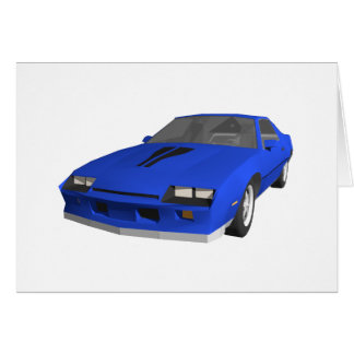 80's Camaro Sports Car: 3D Model: Card