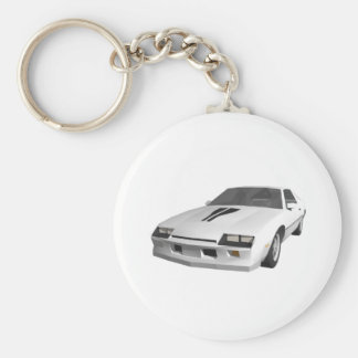 80's Camaro Sports Car: 3D Model: Keychain