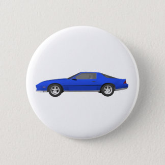80's Camaro Sports Car: 3D Model: Pinback Button