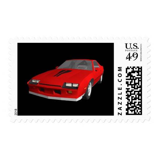 80's Camaro Sports Car: 3D Model: Postage