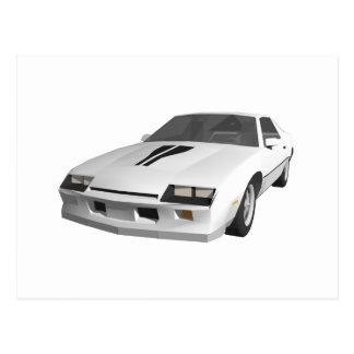 80's Camaro Sports Car: 3D Model: Postcard