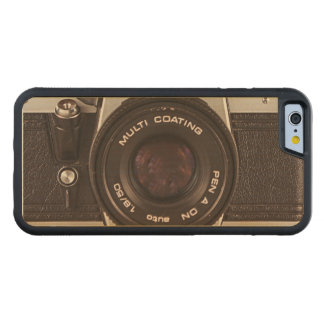 80's camera carved® maple iPhone 6 bumper