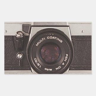 80's camera rectangular sticker