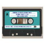 80s casete retro Mixtape personalizado Invitaciones Personales