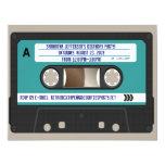 80s casete retro Mixtape personalizado Invitación 10,8 X 13,9 Cm