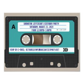 """80s casete retro Mixtape personalizado Invitación 4.25"""" X 5.5"""""""