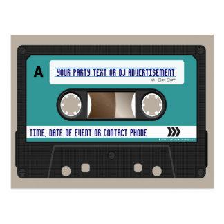 80s casete retro Mixtape personalizado Postal