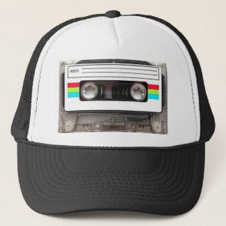 80s casette tape trucker hat