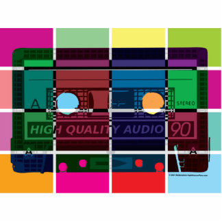 80's Cassette Color Blocks Cutout