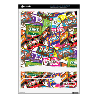 80's Cassette Tape Xbox 360 S Console Skins