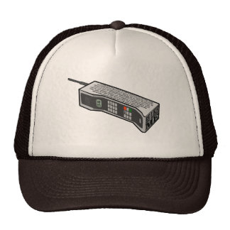 80s Cellphone with Text Mesh Hats