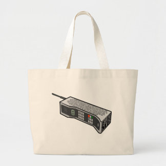 80s Cellphone with Text Large Tote Bag