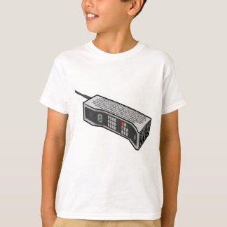 80s Cellphone with Text T-Shirt