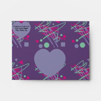 80s chic eighties colors splash medley art girl envelope
