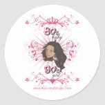 80s chica del bebé 90s pegatina redonda