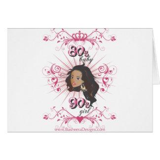 80s chica del bebé 90s tarjeta de felicitación