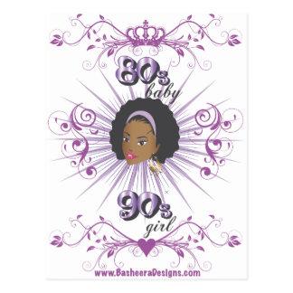 80s chica del bebé 90s tarjetas postales