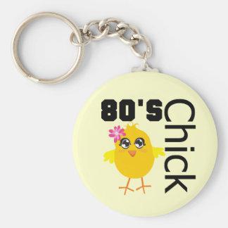 80's Chick Keychain