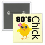 80's Chick Pinback Buttons